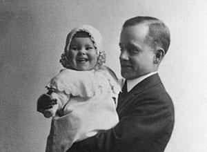Roy Bishop Canfield with daughter, Barbara