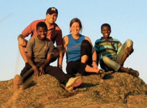 Eric and Keri Dziuban go climbing in Swaziland with local teens whom they mentor.