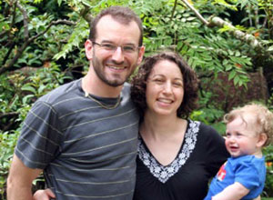 Adam Possner with wife, Marci, and son, Jonah