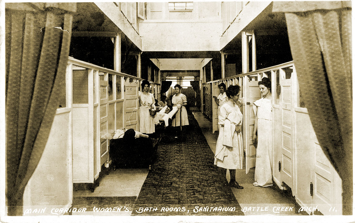 Battle Creek Sanitarium bathing area for women.