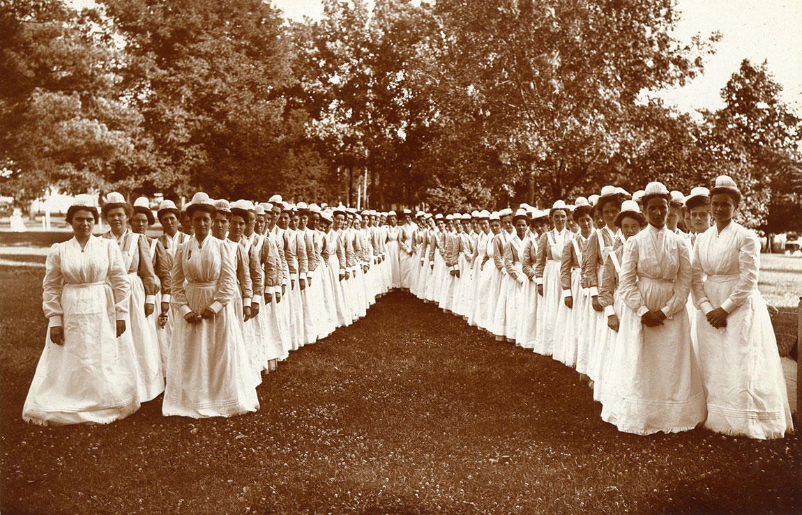 Nurses at the Battle Creek Sanitarium.