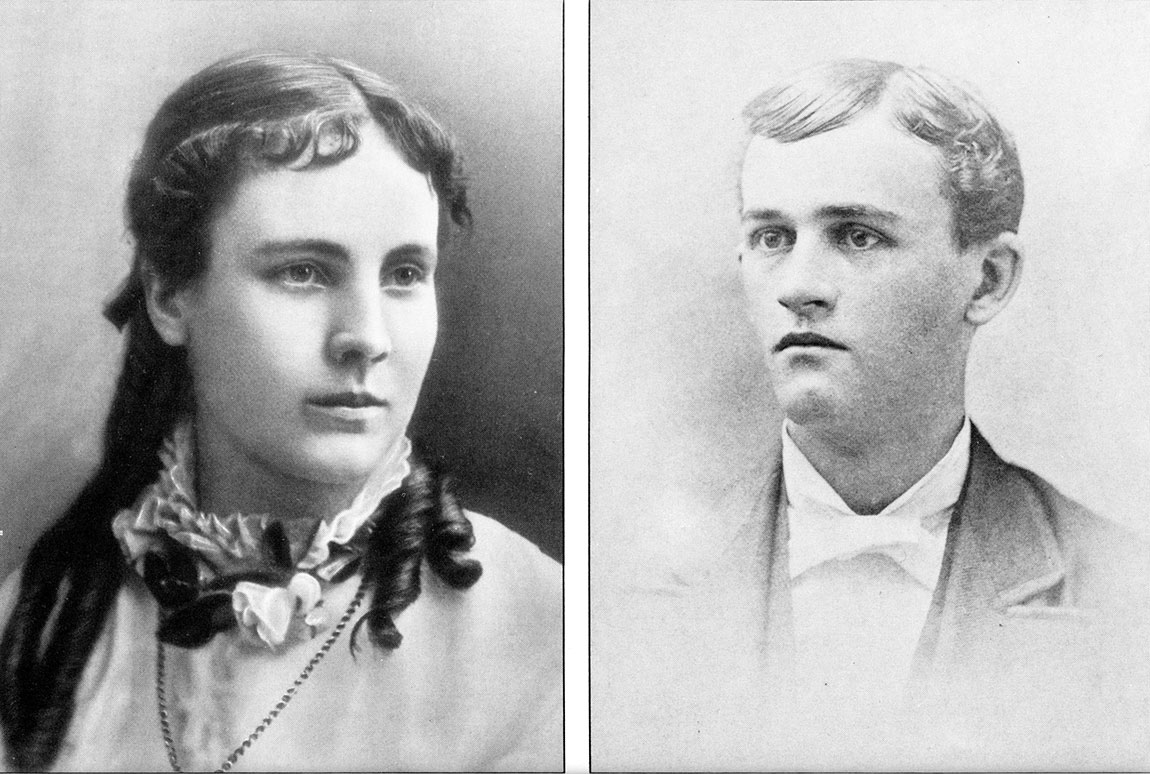 Will Kellogg and his wife, Ella, c. 1880.