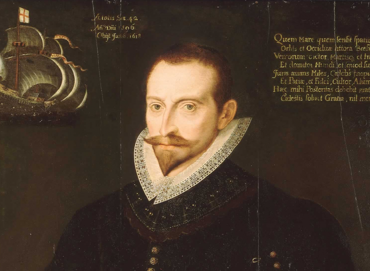 Portrait of Sir James Lancaster, 1596, via Wikimedia Commons