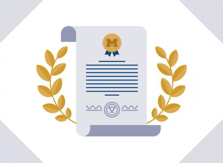 Illustration of a certificate